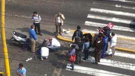 Video: Rafael Rey involucrado en accidente de tránsito en Miraflores