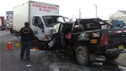Accidente en Chancay dejó un muerto y seis heridos