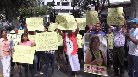 Piura: protestan en rechazo a fallo contra exalcadesa de Castilla