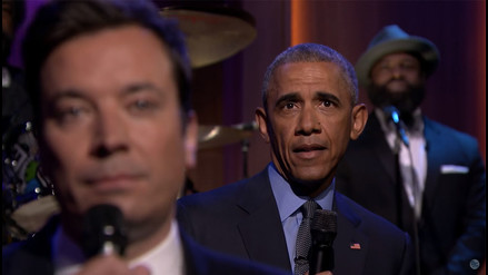 YouTube: Barack Obama protagonizó un curioso dúo musical con Jimmy Fallon