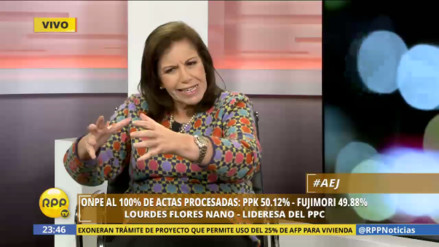 "Lourdes Flores: ""Keiko Fujimori puede forjar la figura de primer ministro"""