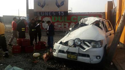 Accidente en Chancay deja dos muertos y tres heridos