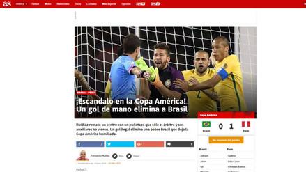 Perú vs. Brasil: Raúl Ruidíaz anotó y así informó prensa internacional
