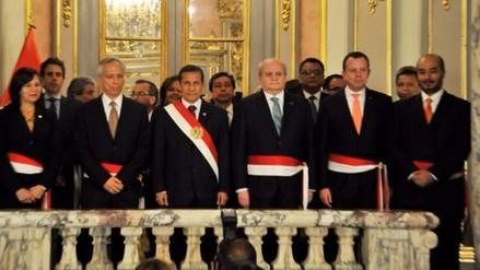 Ollanta Humala condecoró a sus ministros con la Orden del Sol