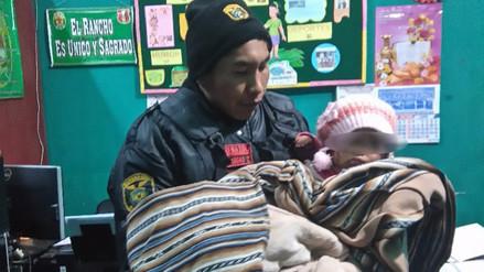 Juliaca: internan en albergue temporal a bebé que fue abandonada en la vía pública