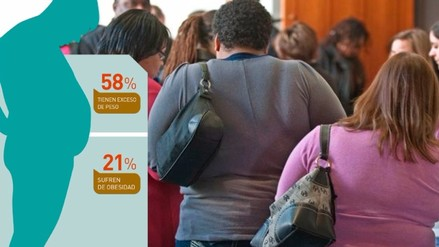 58% de peruanos tienen exceso de peso y 21% sufre de obesidad