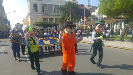 Chiclayo: pasacalle de sensibilización por simulacro poblacional de sismo