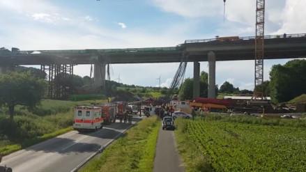 VIDEO. Un puente se derrumbó en Alemania