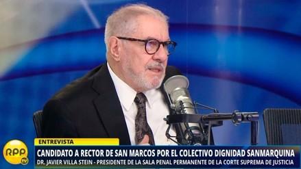 """Javier Villa Stein: """"Tengo jale en el alumnado para ser rector de UNMSM"""""""