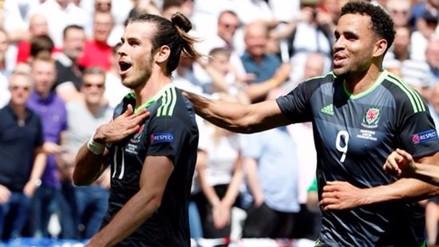 Inglaterra vs. Gales: Gareth Bale anotó golazo de tiro libre