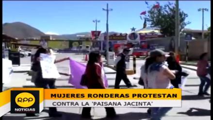 Mujeres ronderas protestan contra la representación de la 'Paisana Jacinta'