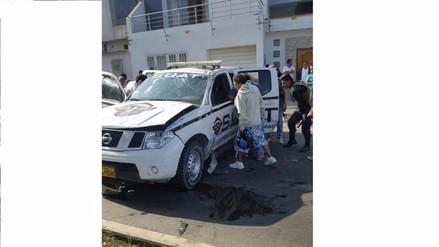 Trujillo: dos policías heridos tras choque de patrullero