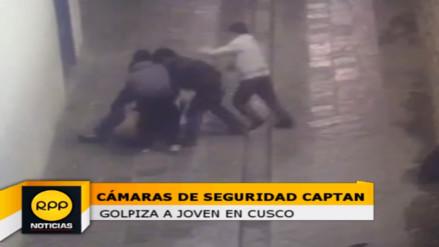 Cámaras de seguridad captan brutal golpiza a joven en el Cusco