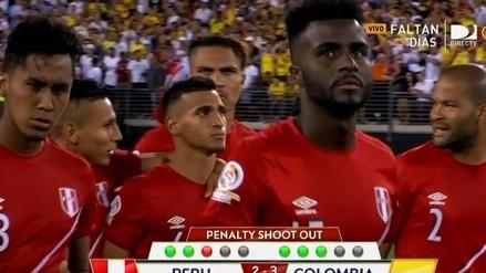 Perú vs. Colombia: Miguel Trauco fue consolado tras fallar penal