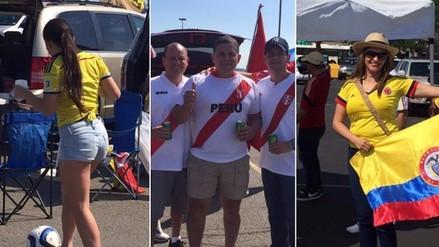 Perú vs. Colombia: hinchas arman la fiesta en las afueras del MetLife Stadium
