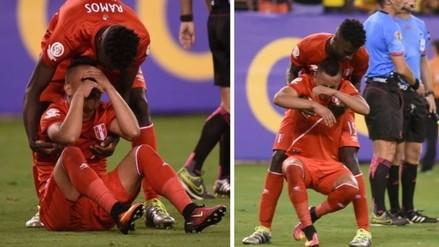 Selección Peruana: el llanto de Christian Cueva tras caer ante Colombia