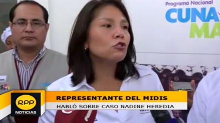 Ministra Bustamante apoya disposición de Nadine Heredia con la justicia