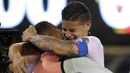 Copa América: James Rodríguez rompió en llanto tras clasificación