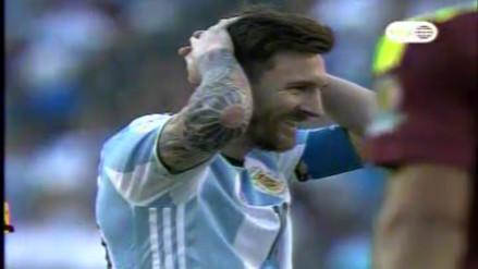 Argentina vs. Venezuela: Messi y su blooper frente al arco rival