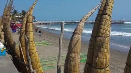 Playa de Huanchaco vuelve a coparse de arena tras erosión costera