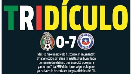 Copa América: las portadas mexicanas ante la goleada 7-0 de Chile
