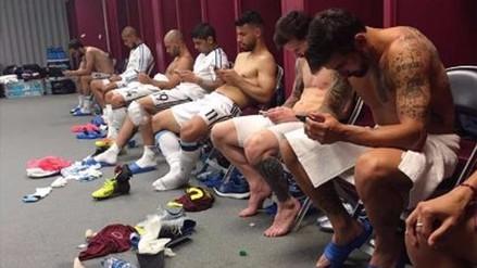 Copa América: foto del vestuario de Argentina da la vuelta al mundo