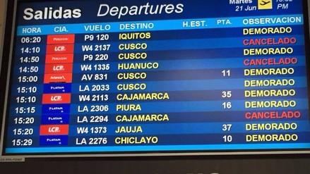 Pista del aeropuerto Jorge Chávez ya está libre y se espera que reanuden vuelos