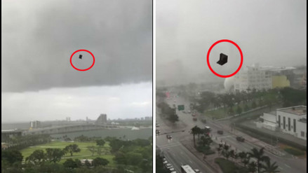YouTube: Miami fue sorprendida por una  'lluvia' de muebles