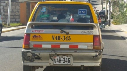 Intervienen taxi con placas adulteradas