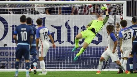 Copa América: Lionel Messi marcó golazo de tiro libre a Estados Unidos