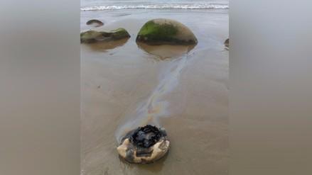 Tumbes: reportan manchas de petróleo en la playa Zorritos