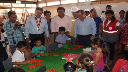 Rioja: ministro de Educación supervisó obras del proyecto