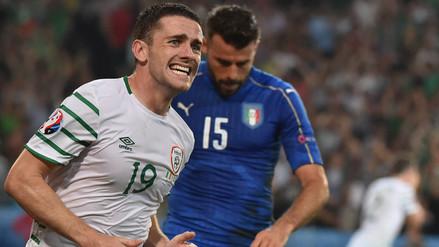 Irlanda venció 1-0 a Italia y avanzó a octavos de final de la Eurocopa