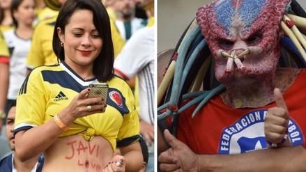 Copa América: belleza y color en las tribunas del Chile vs. Colombia