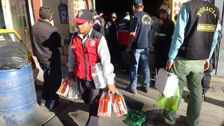 Arequipa: intervienen locales donde se adulteraba licor de conocidas marcas