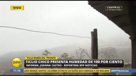 Intenso frío y neblina soportan pobladores de Villa María del Triunfo