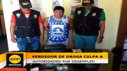 Vendedor de droga culpa a autoridad edil por no darle trabajo en Tumbes