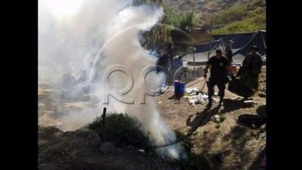 Sánchez Carrión: incineran 5 mil plantones de marihuana y caen 10 personas
