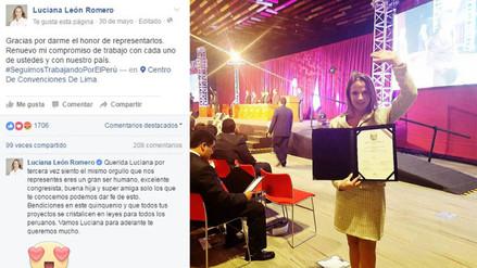 Facebook: una publicación de Luciana León recibió este curioso comentario