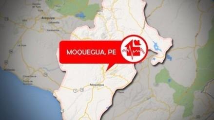 Sismo de 3.8 grados de magnitud remeció Moquegua
