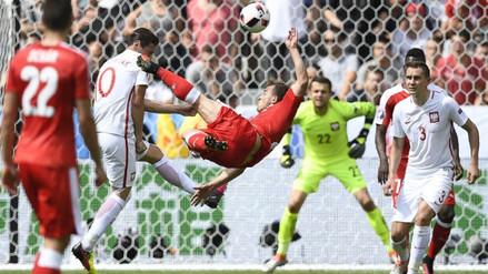 Video: Xherdan Shaqiri anotó golazo de 'chalaca' en la Eurocopa