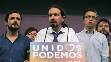 Pablo Iglesias insatisfecho por sus resultados en los comicios españoles