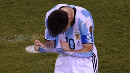 Lionel Messi: su reacción tras fallar penal en final de la Copa América