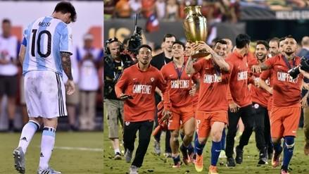 Argentina vs. Chile: el festejo chileno y el llanto argentino en imágenes