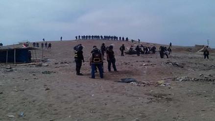 Desalojan a invasores de áreas públicas en sector de Huacho