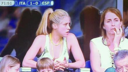 Eurocopa: el rostro de Shakira ante la derrota de España