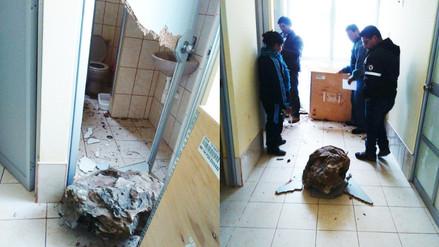 Tarma: deslizamiento de cerro destruyó techo de posta médica