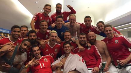 Eurocopa: jugadores de Gales celebraron la eliminación de Inglaterra
