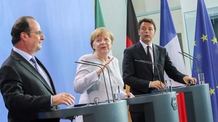 Berlín, París y Roma quieren dar un nuevo impulso a la Unión Europea