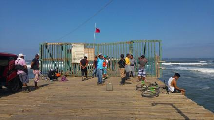 Muelle de Puerto Eten continúa cerrado generando malestar en pescadores